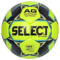 Мяч футбольный SELECT X-Turf IMS (010), желт/серый, размер 5