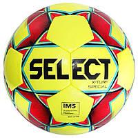 Мяч футбольный SELECT X-Turf Special IMS (018) желт/красн, размер 5