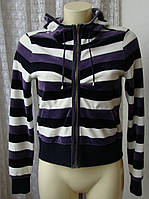 Кофта женская спортивная с капюшоном бренд Adidas р.46 4680а