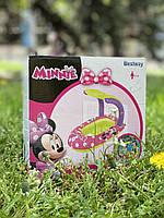 Детский надувной Плотик с навесом Минни Маус, розовый, Bestway, Бествей 91059