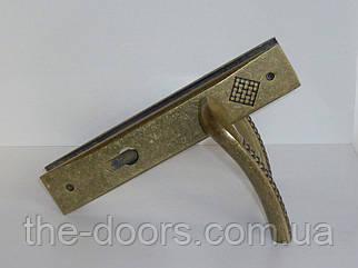 Дверна ручка на планці Кобо A. BRONZE