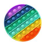 Іграшка Антистрес поп іт райдужна різнобарвна Pop it Веселка іграшка Пуш ап Push up антистрес поп іт, фото 5