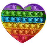Іграшка Антистрес поп іт райдужна різнобарвна Pop it Веселка іграшка Пуш ап Push up антистрес поп іт, фото 7