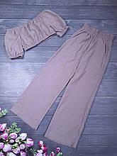 Стильный комплект топ и штаны для девочки р. 128-152