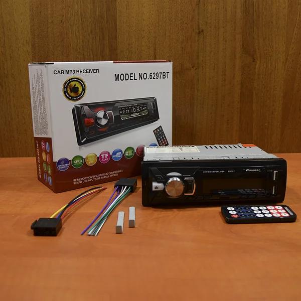 Автомагнитола 1DIN Pioneer MP3-6297BT с Пультом магнитола Пионер мп3 в Машина авто MP3+FM+2xUSB+SD+AUX Блютуз