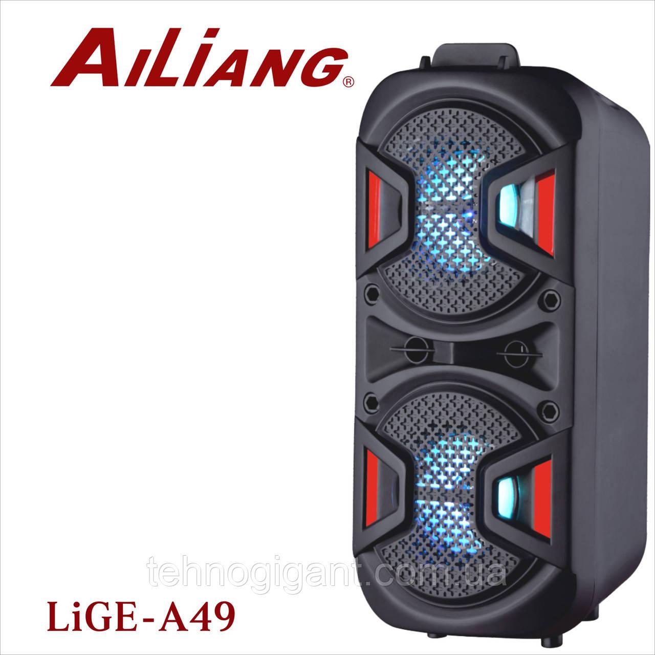Акустична акумуляторна колонка 45 Вт Ailiang Lige-A49 (USB/FM/BT/LED) бездротова Bluetooth акустика