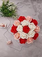 Букет мыльные розы, композиция цветы из мыла, неувядающие цветы, оригинальный подарок