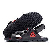 Мужские кожаные сандалии  Reebok NS Red (реплика)