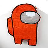 Амонг Ас Among Us пиньята бумажная для праздника Пиньята Космонавт персонаж игры белый пината амонг асик, фото 3