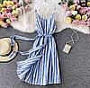 Женский стильный сарафан на пуговицах с карманами
