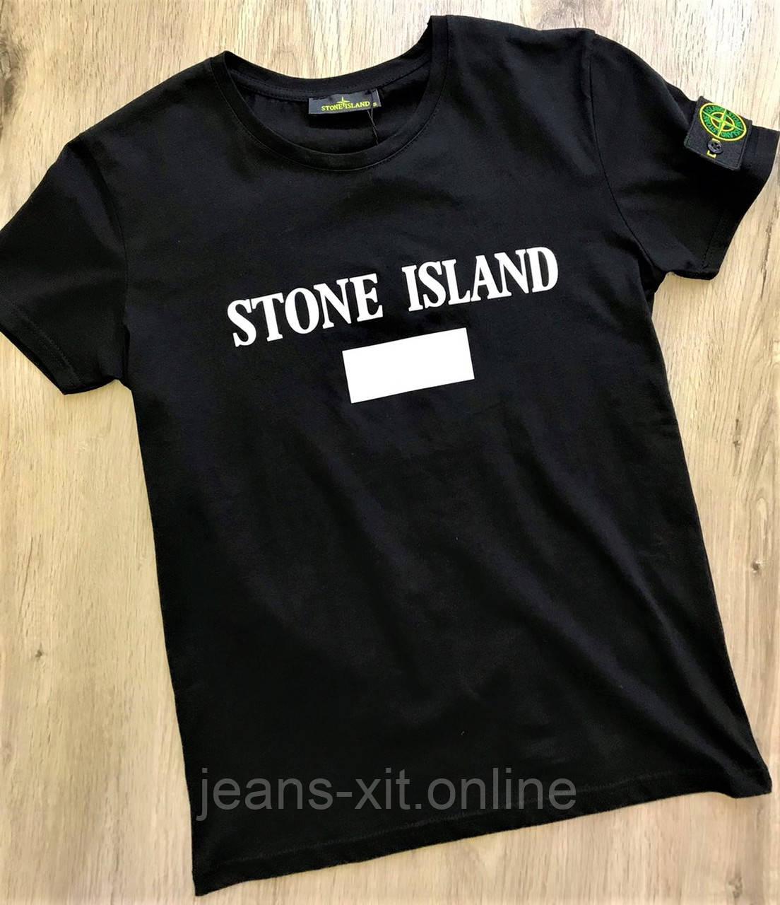 Футболка Чол. 2XL(р) чорний 1714-20 Stone Island Туреччина Літо-C