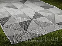 Безворсовая ковровая дорожка на латексе  серая Flex: 67; 100; 150 см