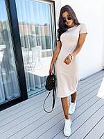 Женское стильное облегающее платье с коротким рукавом, фото 1