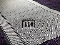 Безворсовая дорожка бежевая с коричневым кантом Flex Karat Carpet на латексе:   80*(2,78); 100; 150 см