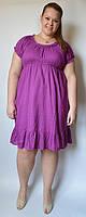 Платье летнее, 54-62 размеры, фиолетовое