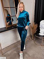 Оксамитовий спортивний костюм жіночий королівський оксамит по фігурі р-ри 42-46 арт. 0116