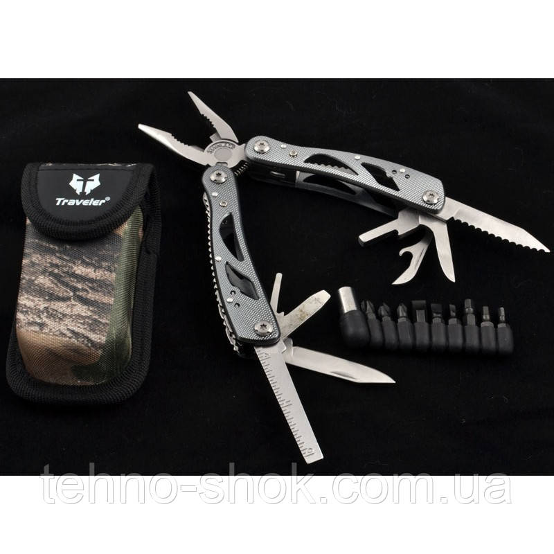 Многофункциональный нож (мультитул) MT629 с комплектом бит
