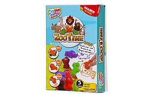 PAULINDA Набор для творчества Crayon clay 2 в 1 (масса для лепки и карандаши) «Зоопарк» с раскраской