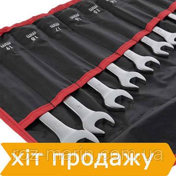 Набор ключей комбинированных 15 ед. 6-19, 22 мм Cr-V INTERTOOL HT-1204