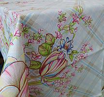 Лляна скатертина р. 120*150 на кухонний стіл N-483