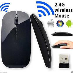 Бездротовий usb ультратонка   оптична мишка   в стилі APPLE 2.4 GHz   Система Smart Connect 100% ЯКІСТЬ