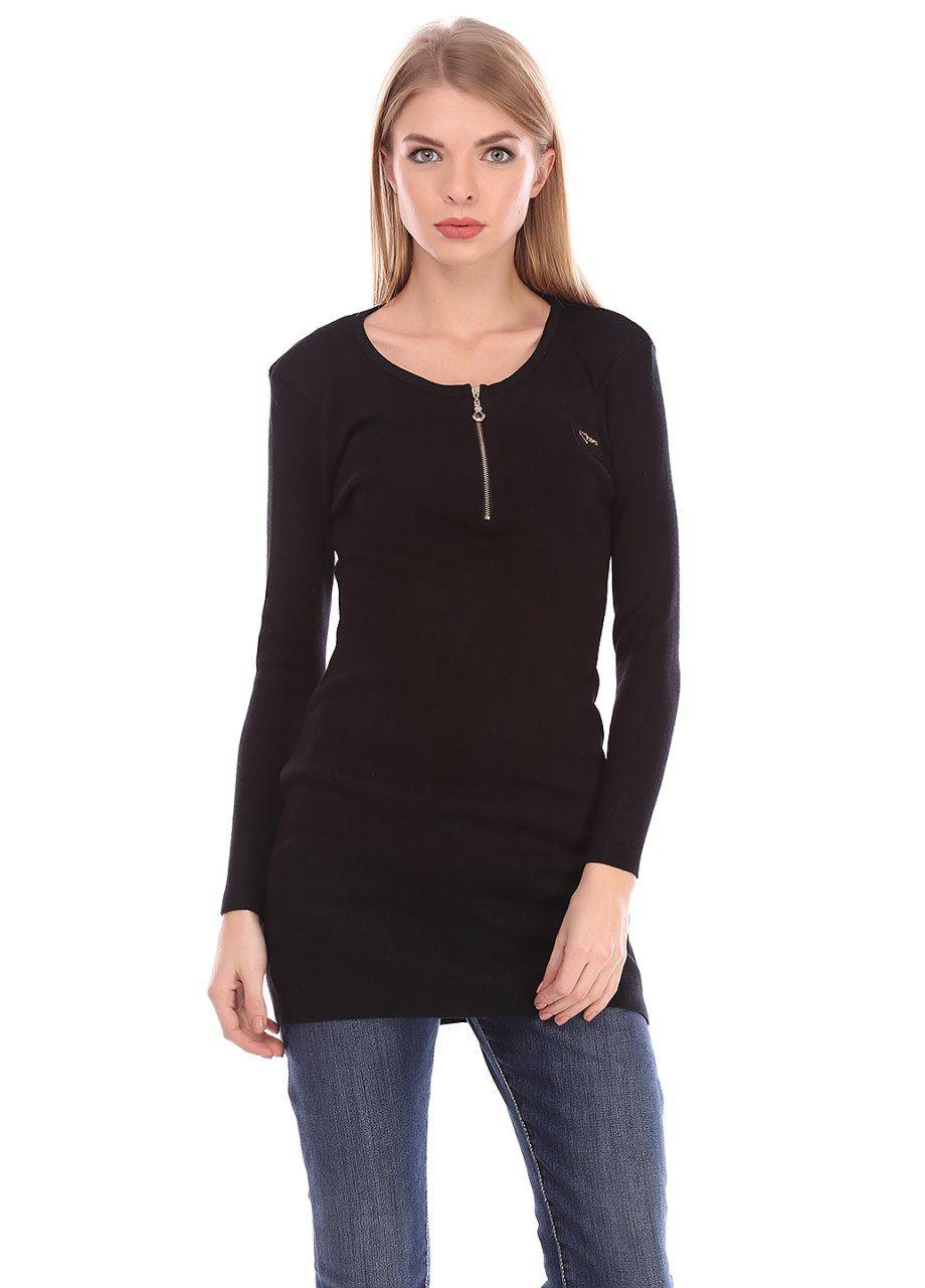 df72eb05204 Женская туника с молнией черного цвета  продажа