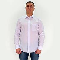 Рубашка мужская белая, в очень тонкую серую клетку.Длинный рукав,классический силуэт.РазмS-XXL. Davanti.