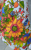 Лляна скатертина р. 120*150 на кухонний стіл N-484