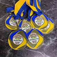 Медали для выпускников детского сада 50 мм, именные металлические медали для выпускного в детском саду