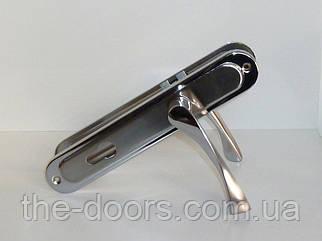 Дверна ручка на планці Поліс WL-19 SN/CP