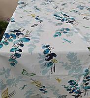 Лляна скатертина р. 120*150 на кухонний стіл N-485