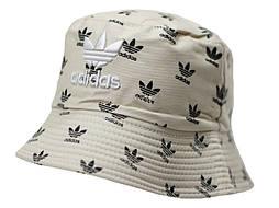 Двухсторонняя бежевая летняя панама Adidas