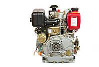 Двигун дизельний Weima WM178FЕ (вал під шпонку) 6.0 л. с., ел. старт, фото 4