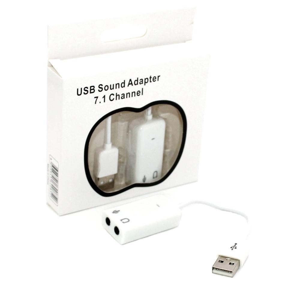 Внешняя звуковая карта USB 7.1 для компьютера и ноутбука Аудиокарта Юсб ПК 3D Sound Adapter Card