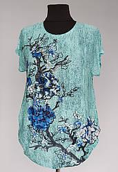Женская футболка большого размера «Цветение»