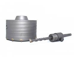 Коронка по бетону 110 мм SDS Plus Tomax твердосплавная c переходником, подрозетники, трубы