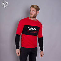 Мужской теплый свитшот Teamv NASA 3 Красный XL