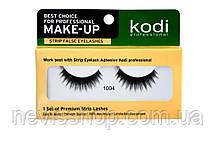 Ресницы накладные Kodi Professional № 1004 на ленте, черные