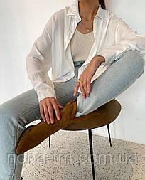 Жіноча сорочка з довгим рукавом коттон