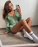 Спортивный костюм женский с кофтой и шортами, фото 3