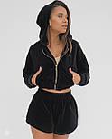 Спортивный костюм женский с кофтой и шортами, фото 7