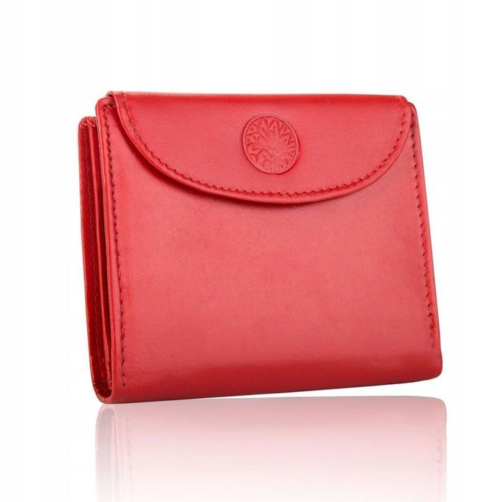 Жіночий шкіряний гаманець Betlewski з RFID 9,5 х 12,5 х 2,8 (BPD-DZ-357) - червоний
