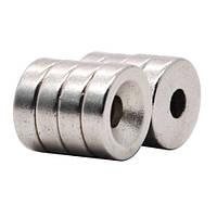 Магниты неодимовые крепежные 10x3мм N50 с отверстием зенковкой 3мм 10шт, 100722