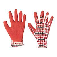 """IKEA """"КРИДНЕЙЛИКА"""" Садовые перчатки, красный. Размер: S/M"""