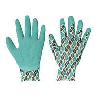 """IKEA """"КРИДНЕЙЛИКА"""" Садовые перчатки, бирюзовый. Размер: M/L"""