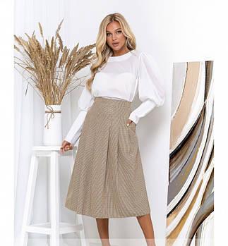 / Размер 42,44,46,48 / Женская нарядная блуза / 152-Белый
