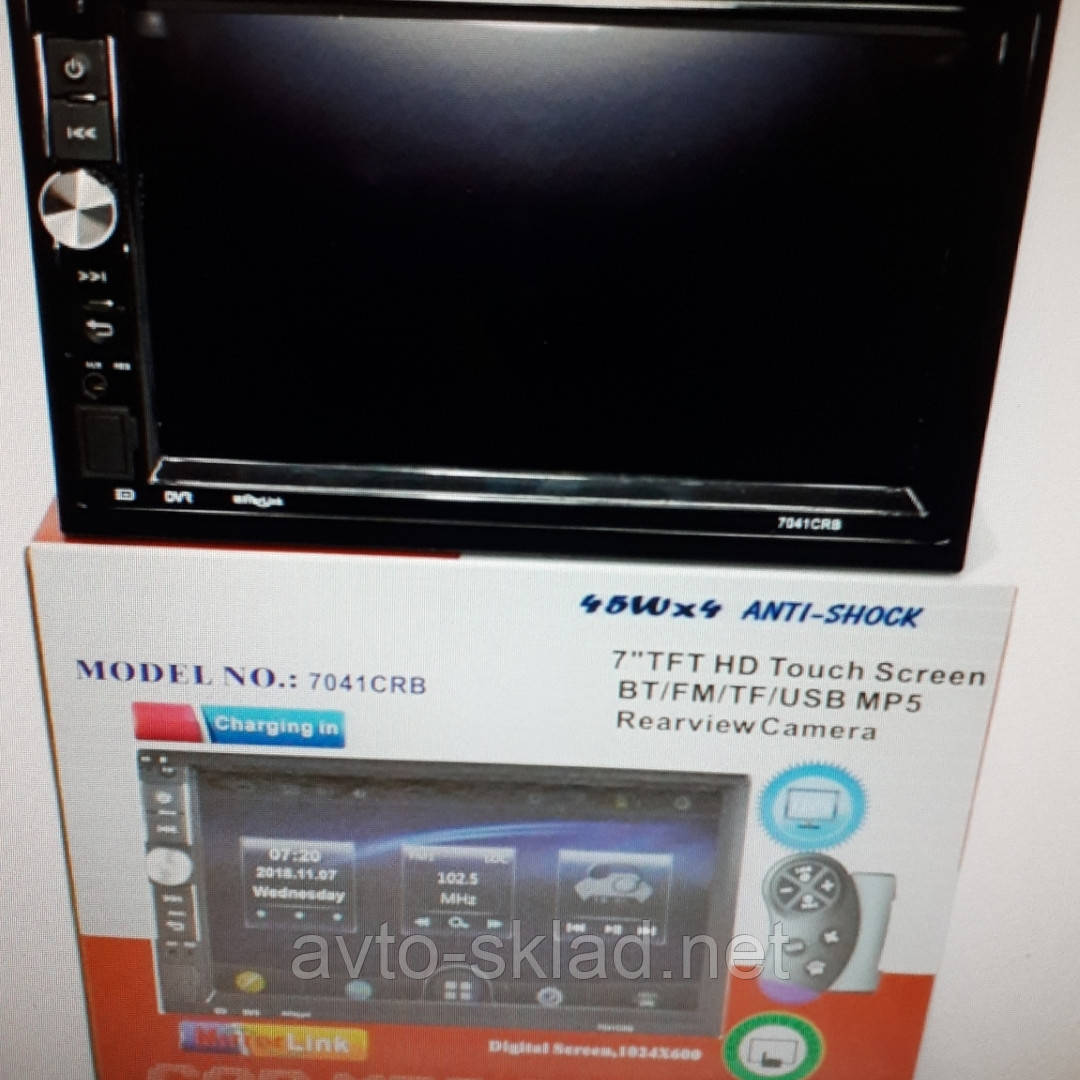 Автомагнітола Pioneer 7040 - 7041 7 TFT (BT,FM,TF,USB,DVD) MP5