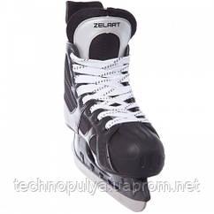 Ковзани хокейні Zelart PVC Z-0887 р-р43 Black (MR08715)