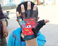 Рукавички велосипедні Sporty безпалі дитячі спортивні McQueen