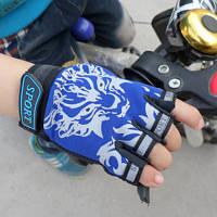 Рукавички велосипедні Sporty безпалі дитячі спортивні Blue